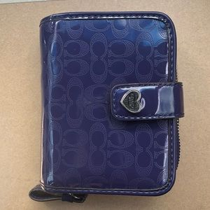 Deep purple Coach wallet